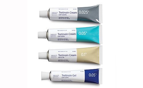 Tretinoin skin care products